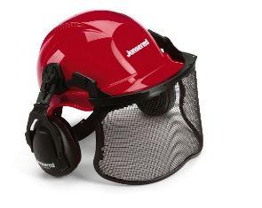 Sikkerhedshjelm med visir og høreværn